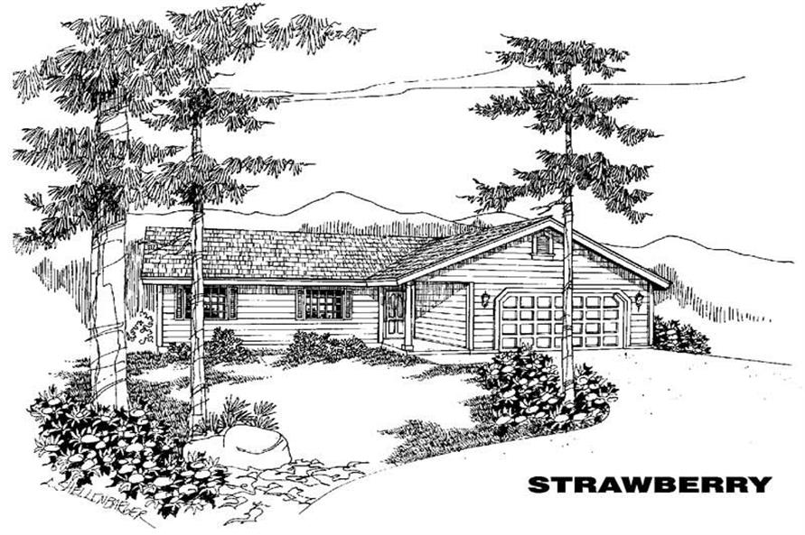 3-Bedroom, 1309 Sq Ft Small House Plans - 145-1411 - Main Exterior