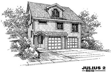 2-Bedroom, 2121 Sq Ft Country Home Plan - 145-1415 - Main Exterior