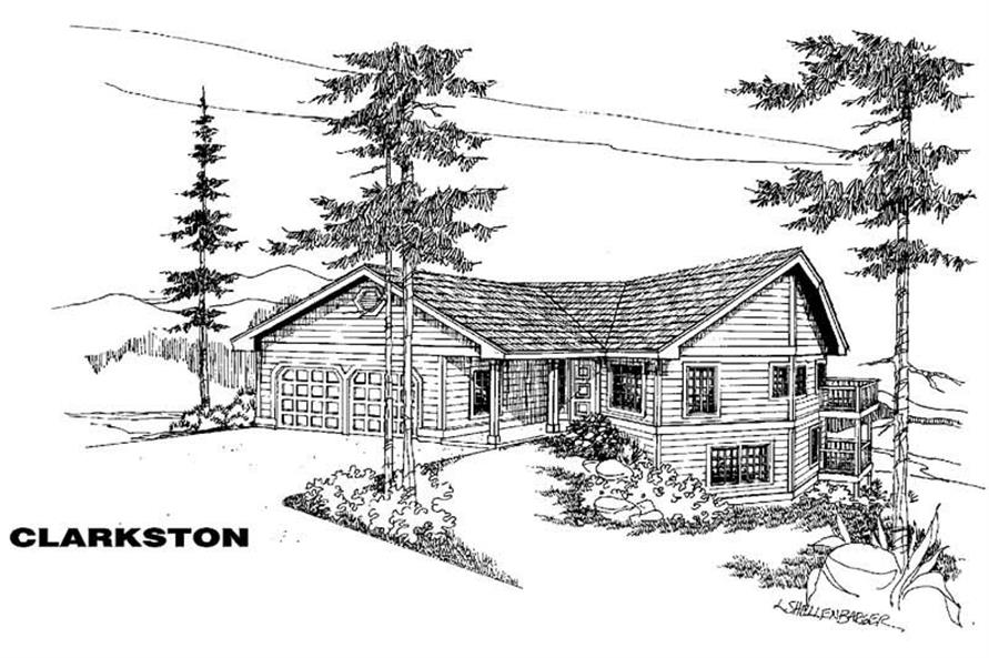 3-Bedroom, 1292 Sq Ft Small House Plans - 145-1417 - Main Exterior