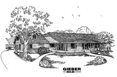 3-Bedroom, 2506 Sq Ft Country Home Plan - 145-1423 - Main Exterior