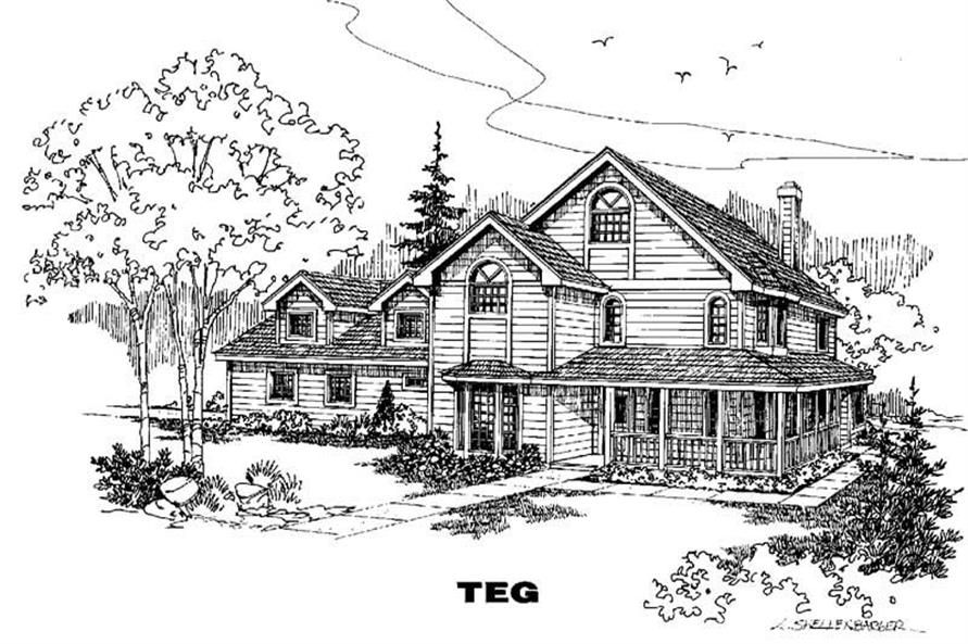 Main image for house plan # 4874