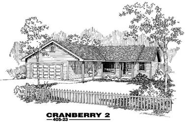 3-Bedroom, 1444 Sq Ft Country House Plan - 145-1427 - Front Exterior