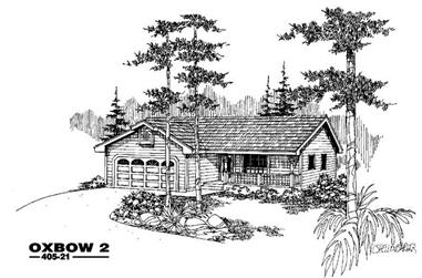 3-Bedroom, 1236 Sq Ft Country House Plan - 145-1428 - Front Exterior