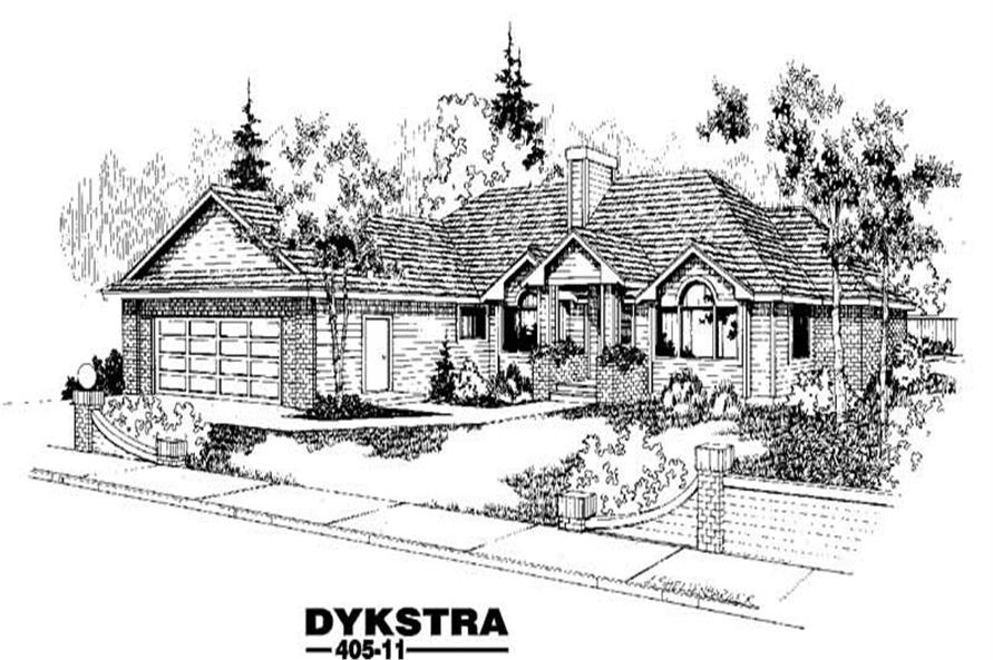 3-Bedroom, 2350 Sq Ft Contemporary House Plan - 145-1429 - Front Exterior
