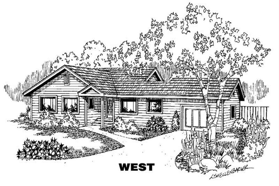 2-Bedroom, 1318 Sq Ft Small House Plans - 145-1430 - Front Exterior