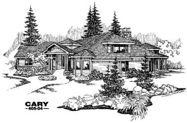 3-Bedroom, 3975 Sq Ft Contemporary House Plan - 145-1431 - Front Exterior
