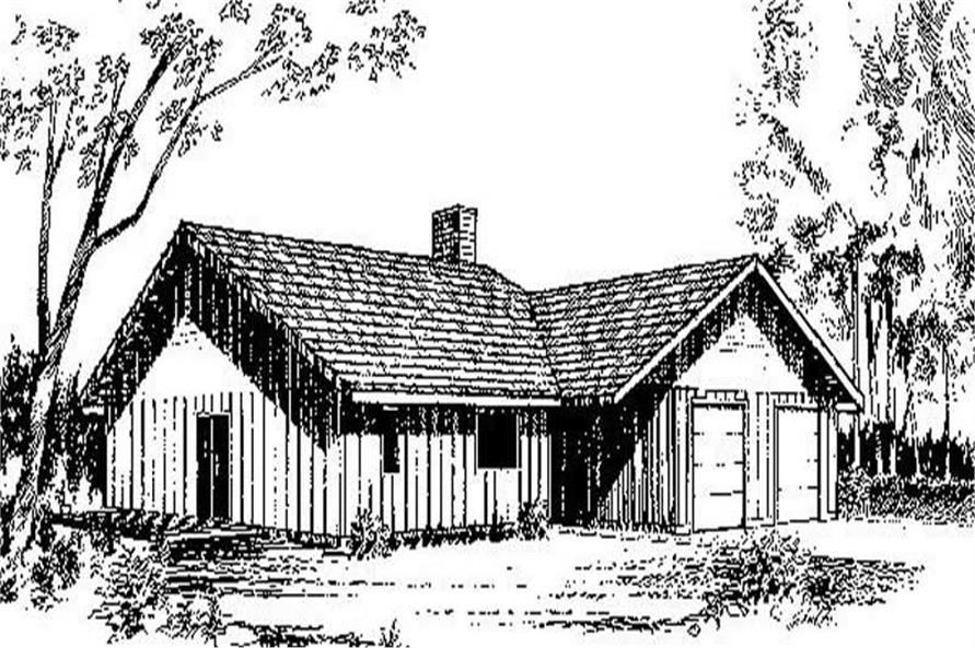 3-Bedroom, 1757 Sq Ft Ranch Home Plan - 145-1439 - Main Exterior