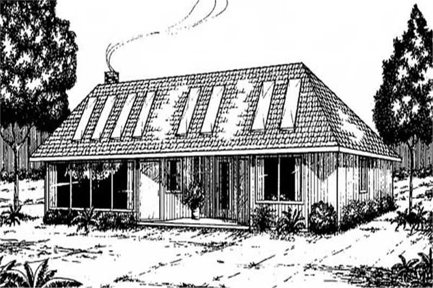 3-Bedroom, 1475 Sq Ft Passive Solar Home Plan - 145-1443 - Main Exterior