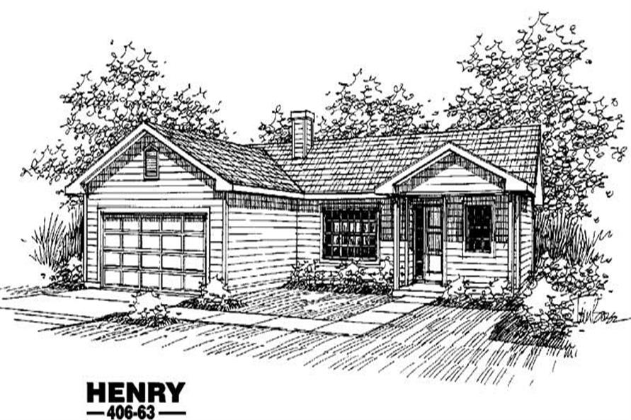 Main image for house plan # 6599