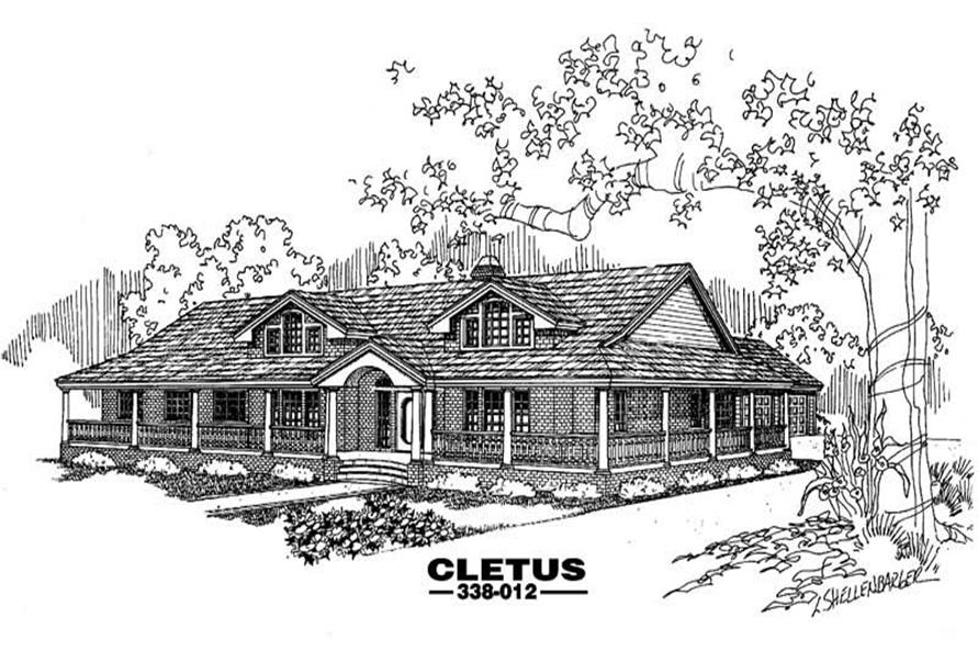 4-Bedroom, 2415 Sq Ft Country Home Plan - 145-1456 - Main Exterior