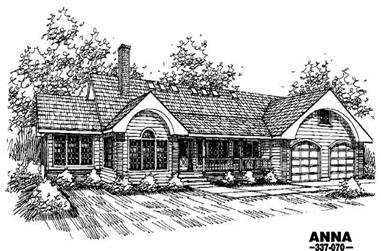 3-Bedroom, 2576 Sq Ft Contemporary House Plan - 145-1460 - Front Exterior