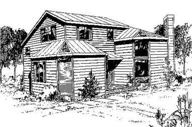 2-Bedroom, 1372 Sq Ft Farmhouse Home Plan - 145-1461 - Main Exterior