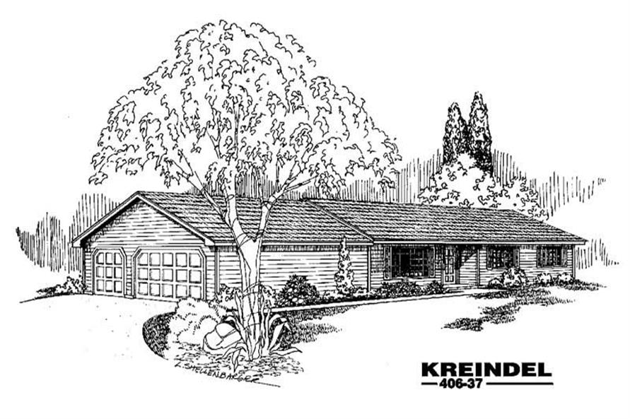 3-Bedroom, 1418 Sq Ft Country Home Plan - 145-1472 - Main Exterior