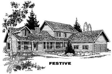 5-Bedroom, 3535 Sq Ft Country House Plan - 145-1479 - Front Exterior