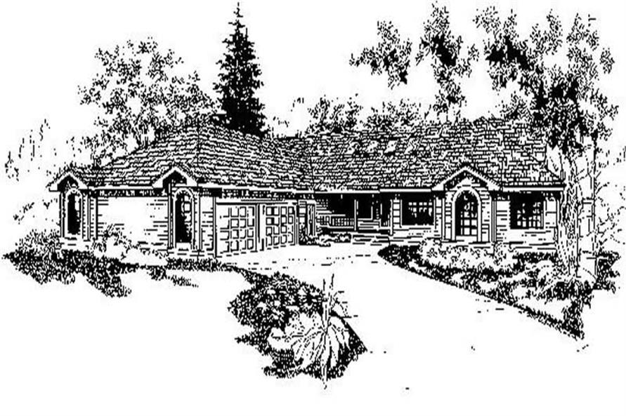 6-Bedroom, 2235 Sq Ft Ranch Home Plan - 145-1483 - Main Exterior