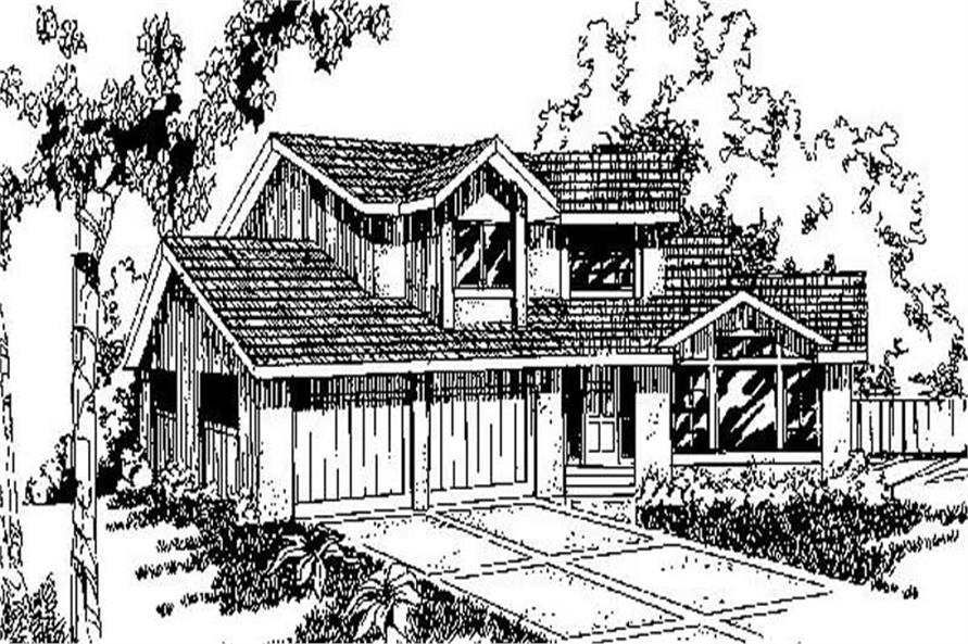 3-Bedroom, 1635 Sq Ft Small House Plans - 145-1484 - Main Exterior