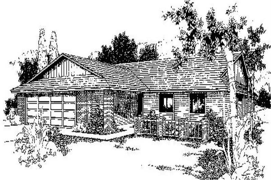 3-Bedroom, 1665 Sq Ft Ranch House Plan - 145-1485 - Front Exterior