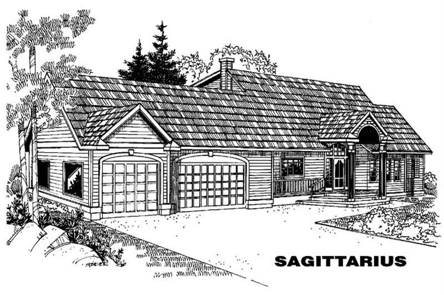 5-Bedroom, 2338 Sq Ft Traditional House Plan - 145-1487 - Front Exterior