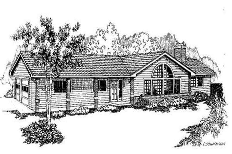 3-Bedroom, 1875 Sq Ft Contemporary Home Plan - 145-1490 - Main Exterior