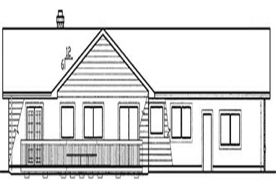 Home Plan Rear Elevation of this 3-Bedroom,1875 Sq Ft Plan -145-1490
