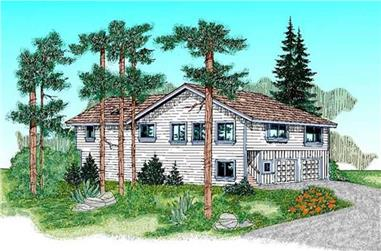 2-Bedroom, 1485 Sq Ft Contemporary Home Plan - 145-1491 - Main Exterior