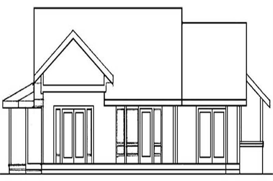 Home Plan Rear Elevation of this 3-Bedroom,1626 Sq Ft Plan -145-1493