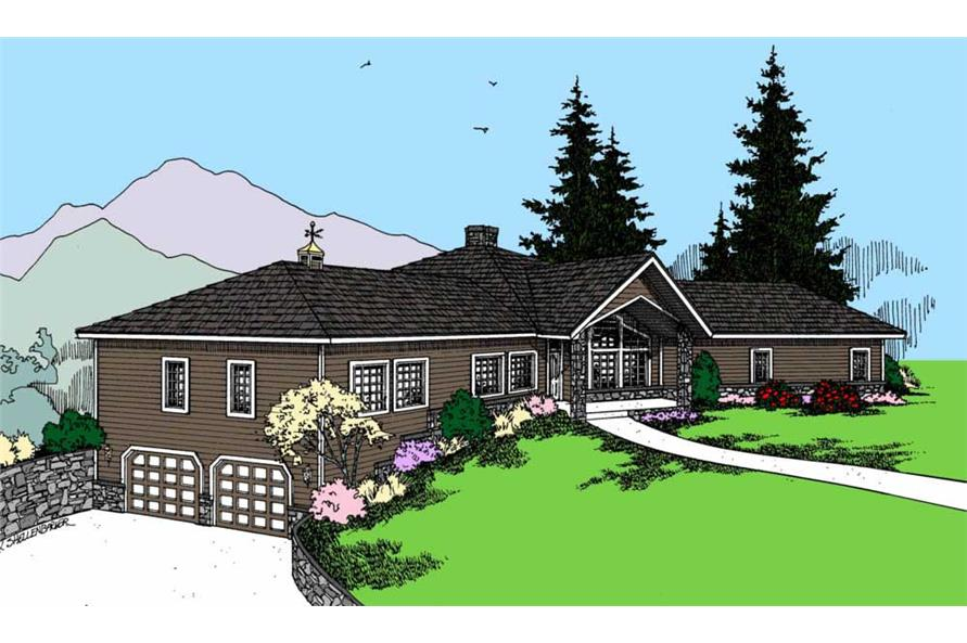3-Bedroom, 2823 Sq Ft Vacation Homes Home Plan - 145-1500 - Main Exterior