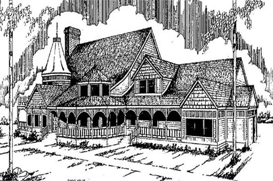 Front View of this house plan
