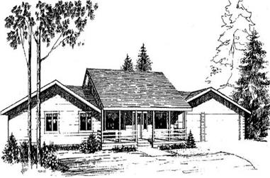 3-Bedroom, 1620 Sq Ft Ranch Home Plan - 145-1510 - Main Exterior