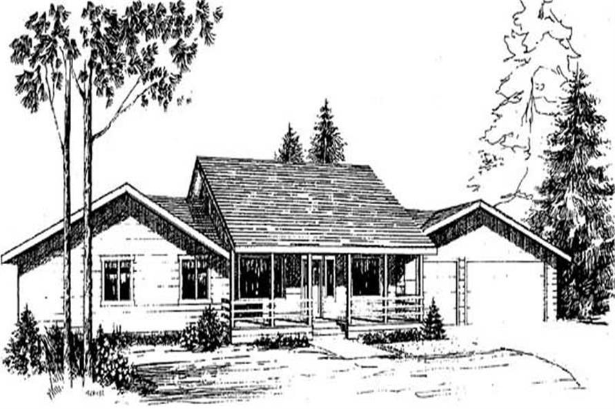3-Bedroom, 1620 Sq Ft Ranch Home Plan - 145-1510 - Main Exterior