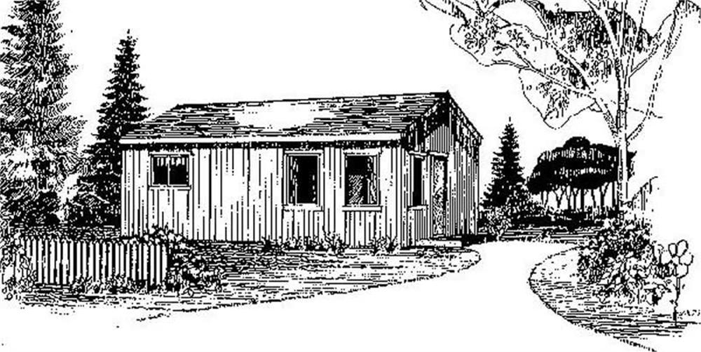 Front elevation of Vacation Homes home (ThePlanCollection: House Plan #145-1514)