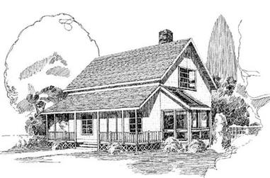 2-Bedroom, 1360 Sq Ft Farmhouse Home Plan - 145-1516 - Main Exterior