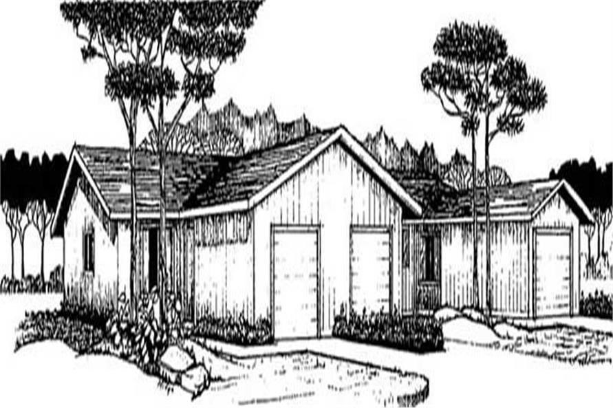 8-Bedroom, 2516 Sq Ft Multi-Unit Home Plan - 145-1518 - Main Exterior