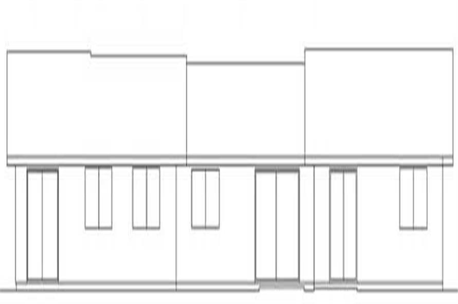 Home Plan Rear Elevation of this 8-Bedroom,2516 Sq Ft Plan -145-1518