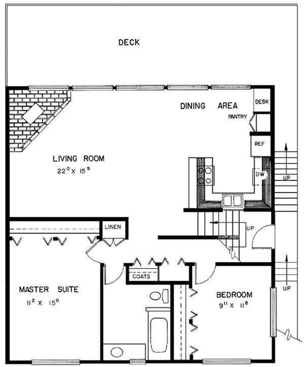 Small Cabin House Plans, Very Small Cabin Plans, One Room Cabin Plans