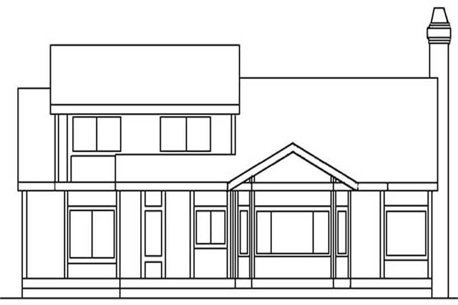 Home Plan Rear Elevation of this 3-Bedroom,2291 Sq Ft Plan -145-1523