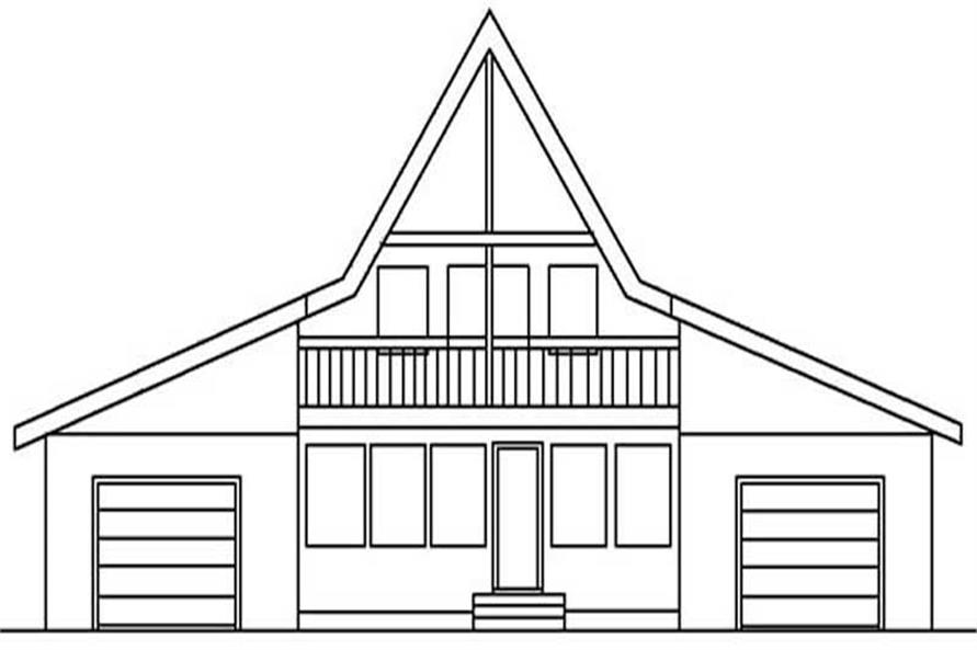Home Plan Rear Elevation of this 3-Bedroom,2091 Sq Ft Plan -145-1529