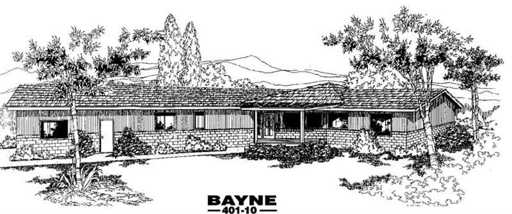 Contemporary home (ThePlanCollection: Plan #145-1541)