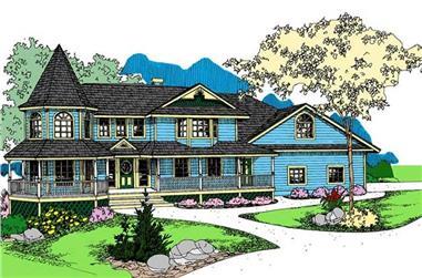 3-Bedroom, 3419 Sq Ft Victorian Home Plan - 145-1542 - Main Exterior