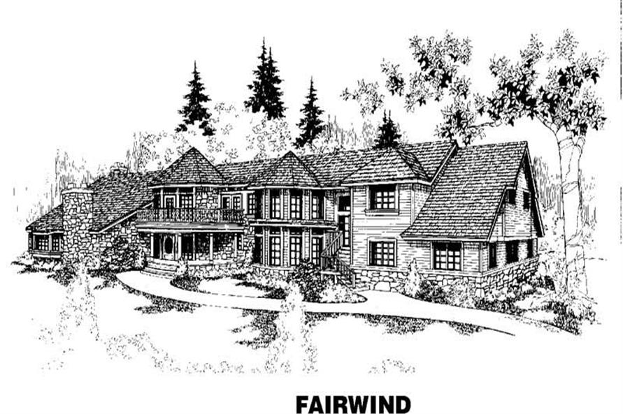 6-Bedroom, 10215 Sq Ft Craftsman Home Plan - 145-1544 - Main Exterior