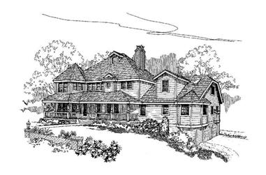 5-Bedroom, 3417 Sq Ft Country Home Plan - 145-1546 - Main Exterior
