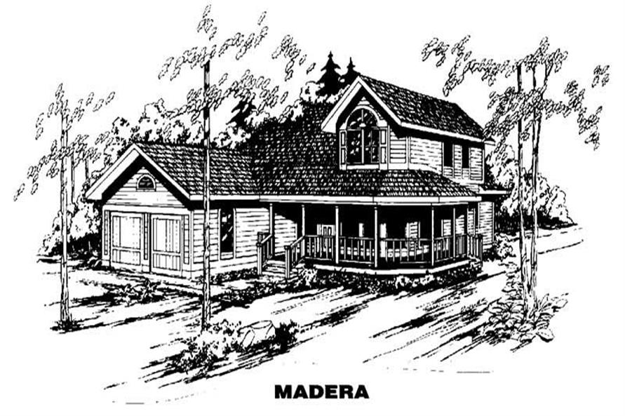 3-Bedroom, 2140 Sq Ft Country Home Plan - 145-1551 - Main Exterior