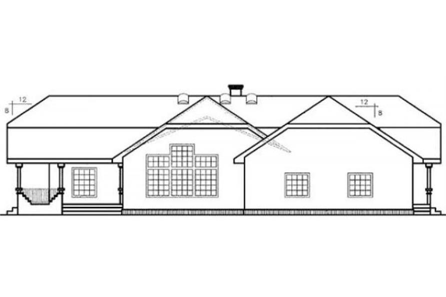 Home Plan Rear Elevation of this 3-Bedroom,2772 Sq Ft Plan -145-1554