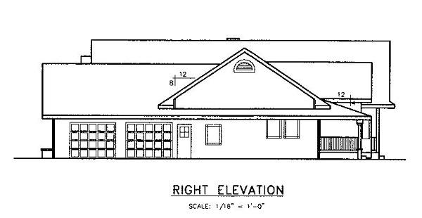 145-1555: Home Plan Right Elevation