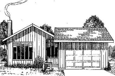 4-Bedroom, 1248 Sq Ft Contemporary House Plan - 145-1560 - Front Exterior