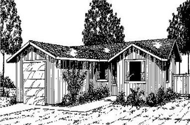 2-Bedroom, 1030 Sq Ft Vacation Homes Home Plan - 145-1561 - Main Exterior