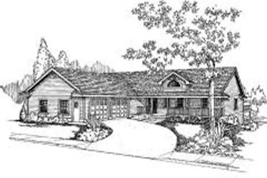 3-Bedroom, 1678 Sq Ft Country Home Plan - 145-1565 - Main Exterior