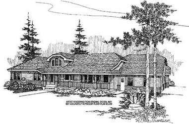 3-Bedroom, 2863 Sq Ft Ranch House Plan - 145-1578 - Front Exterior