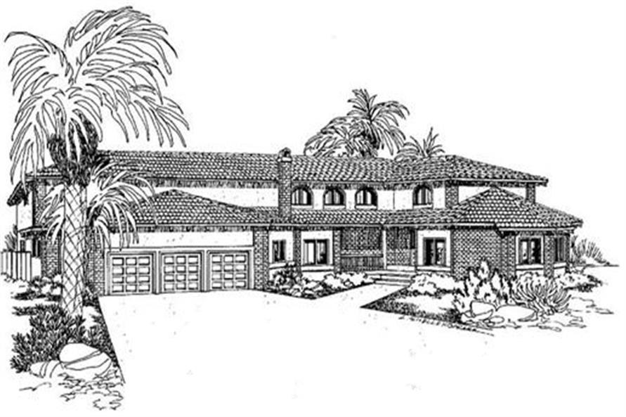 4-Bedroom, 3249 Sq Ft Colonial Home Plan - 145-1579 - Main Exterior