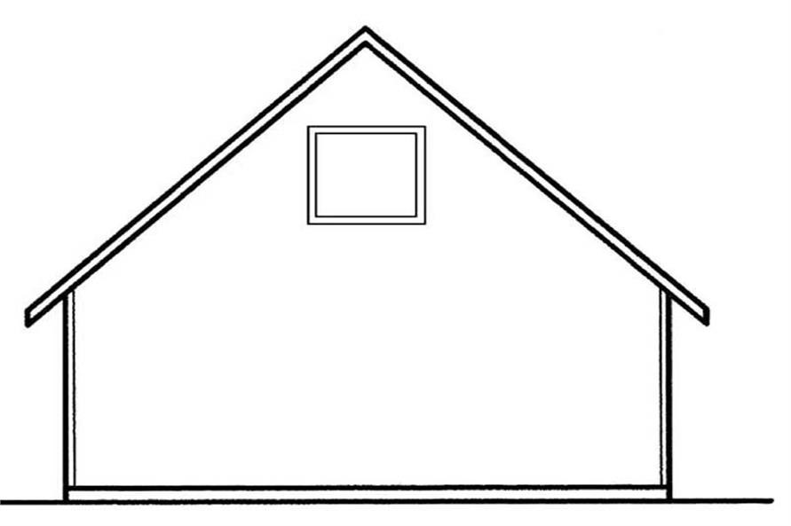 Home Plan Rear Elevation of this 0-Bedroom,545 Sq Ft Plan -145-1582